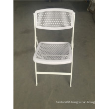 White Color Plastic Foldable Chair