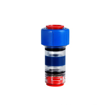 HDPE tube fittings straight couplings water pneumatic plastic microduct hose round gas block connectors