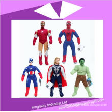 Hot Sell Plush Cartoon Characters Toy Captain America Stock for Promotion