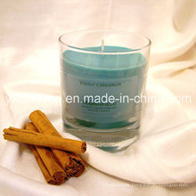 Winter Cinnamon Scented Glass Candle