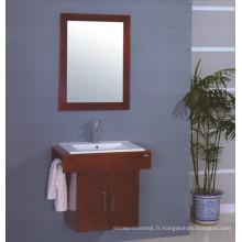 Cabinet de salle de bains en bois de mur (B-228)