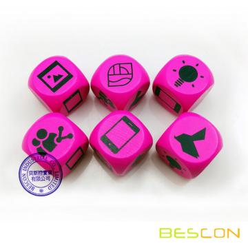Colorful Wooden Dice with Custom Printing