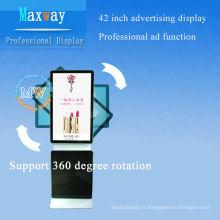 """affichage de la publicité d'affichage à cristaux liquides de réseau de support de plancher 42 """"soutiennent la rotation de 360 degrés"""