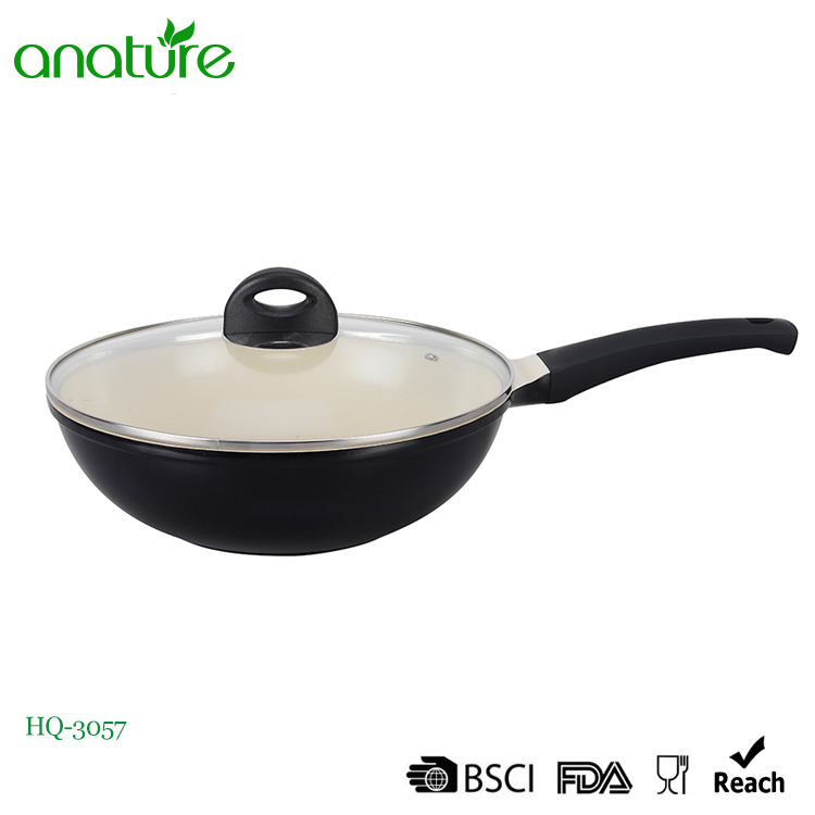 High Quality Ceramic Coating Die Cast Aluminum Wok