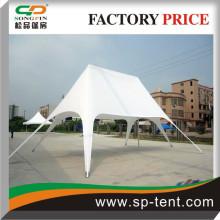 Double Star Tent 8 * 12 * 5 (largeur * longueur * hauteur) en blanc imperméable et protection UV Couverture de toit