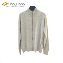 Abrigos de suéter de cachemira de cuerpo completo de calibre 12 con cremallera