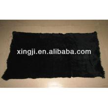 Plaque de fourrure de lapin européenne 1,5cm cisaillée teinte couleur noire 12skins ou 9skins
