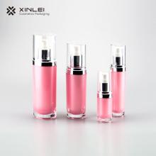L'emballage plastique cosmétique ovale des soins de la peau
