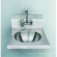 Kitchens of commercial stainless steel hand washing sink