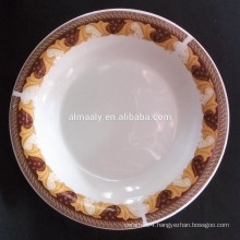 daily using porcelain deep plate, omega plate