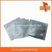 Alta qualidade e impressão personalizada selo térmico foil cosméticos saco para máscara facial de seda