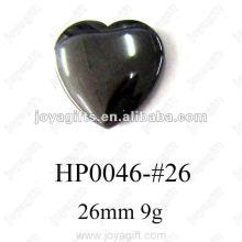 Pendentifs coeur Hematite 26MM