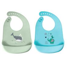 Babadores de silicone à prova d'água de qualidade alimentar para babadores de bebê