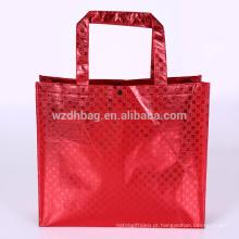 Mantimento não tecido laminado metálico reusável da sacola da compra do saco para a promoção, o supermercado e a propaganda