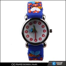 Relógio de caixa de liga para crianças, relógio de criança elegante