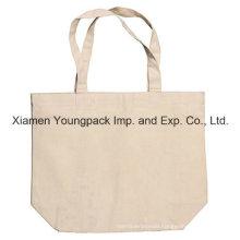 Short Handle Reusable Custom Logo Printed Natural Tote Cotton Bag