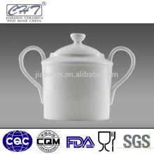 Azúcar de cerámica de cerámica fina azucarero con dos manos