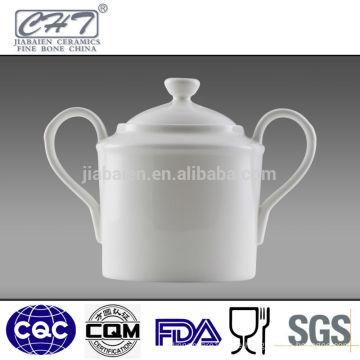 Fine Bone China Keramik Zucker Schüssel Zucker Topf mit zwei Händen
