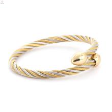 Großhandel Gold Silber Farbe Manschette Einstellbare Kabel Armband Astrologische Armreif