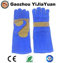 Luvas de couro da mão da segurança para a soldadura