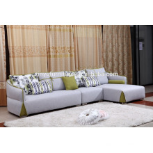 big size wooden living room sofa with colorful cushions KW9100