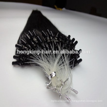 double drawn micro loop remy hair extensions #1 keratin black color pre-bonded hair