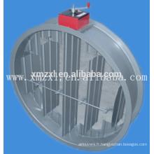 Manuel ou électrique clapet coupe-feu rond pour système de CVC en bonne qualité
