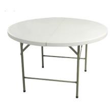 4FT Пластиковый круглый складной стол для 6 человек