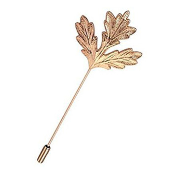 Pin Bros Daun Maple dengan Charms Electroplate