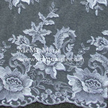 White Curtain Lace Fabric Rose Embroidery Lace Fabric Hem Lace 52'' No.CA499-2