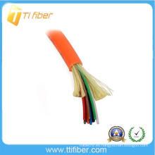 8 core 62.5 / 125 MultiMode Distribución en interiores Cable de fibra óptica