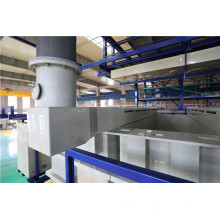 Air exhaust system of electroplating production line