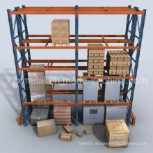 Einstellbare Schwerlast-Stahl-Palettenregale Regalregale