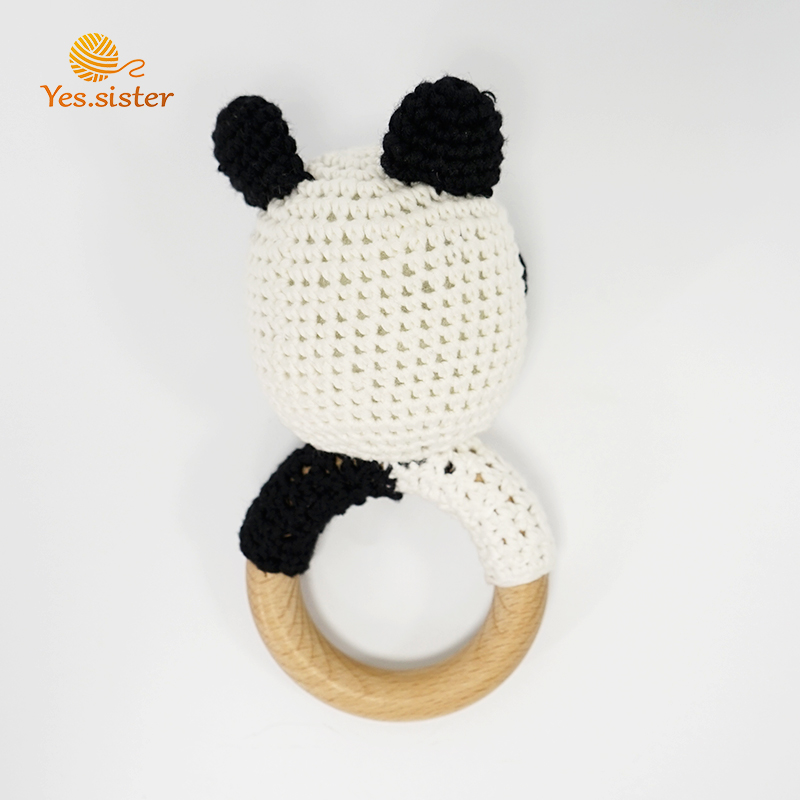 Crochet Panda Teether