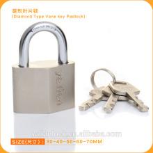 High Security Nickle Plated Diamond Type Vane Key Padlock