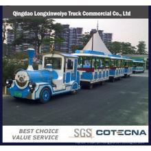 Trem turístico popular elétrico com 02 treinadores para 20 pessoas