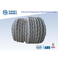 8 Strand 64mm 220m Longitud cuerda de amarre de polipropileno