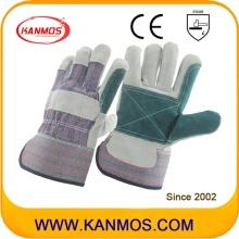 Двойной пальмовой промышленный защитный чехол с кожаными перчатками (110141)