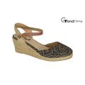 Women′s Raffia Espadrille Wedge Sandals