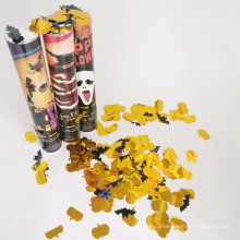 Хэллоуин Поппер с тыквой и летучие мыши конфетти