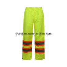 Hi-Vis Safety Product Work Reflective étanche pantalons pluie