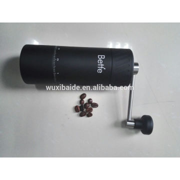 Factory customized Aluminum manual coffee grinder/hand crank coffee grinder/mini coffee grinder with logo