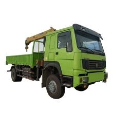 Guindaste sobre caminhão de 8 toneladas Guindaste telescópico de braço reto