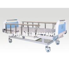 (A-67) Подвижная двухфункциональная ручная больничная койка