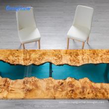 custom 30cm clear epoxy resin river countertops office desk dining table board