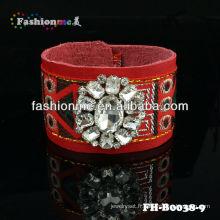 Bracelets de grande vente cuir bracelets shourouk