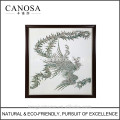 CANOSA Shell hand engarving phoenix Wall foto met houten frame