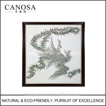CANOSA Shell hand engarving phoenix Wall Picture with wood frame