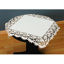 Ecru Color Embroidery Table Cloth Fh236