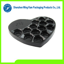 Delicious Chocolate packed by black Plastic heart shape inserts tray product with factory price